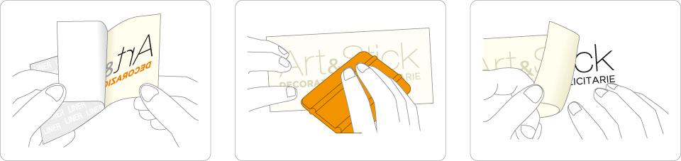 Come applicare gli adesivi Art&Stick