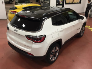 jeep compass limited bicolore wrapping nero lucido tetto specchi montanti