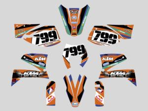 kit adesivi crystal ktm lc4 motocross