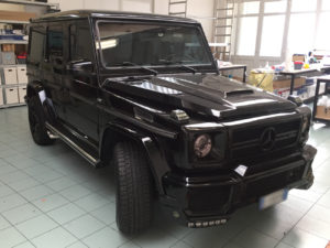 mercedes g wrapping nero carbonio lucido sott