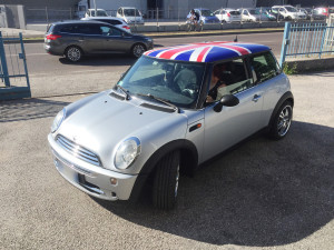 mini cooper tetto wrapping stampa digitale
