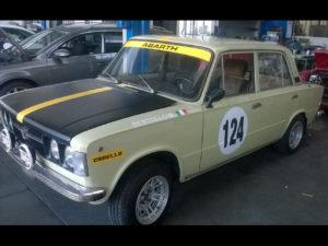 personalizzazione fiat 124 rally adesivi