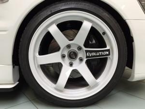 personalizzazione mitsubishi lancer evolution cerchi andrea garaje