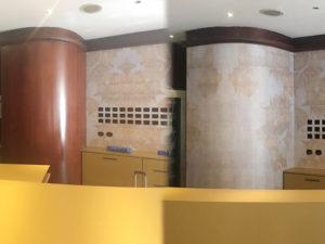 rivestimento parete reception stampa hotel artestick
