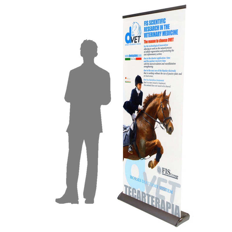 roll up drop deluxe espositore riavvolgibile