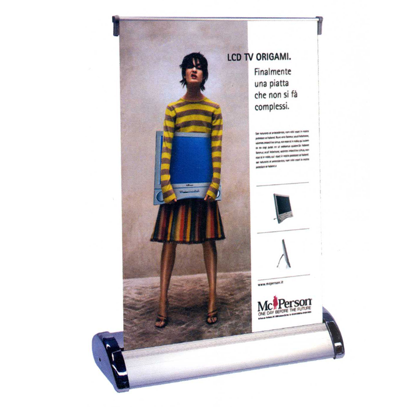 roll up mini A4 espositore riavvolgibile