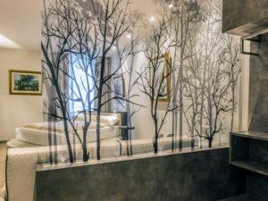 stampa digitale su pellicola ultra trasparente su vetro artestick