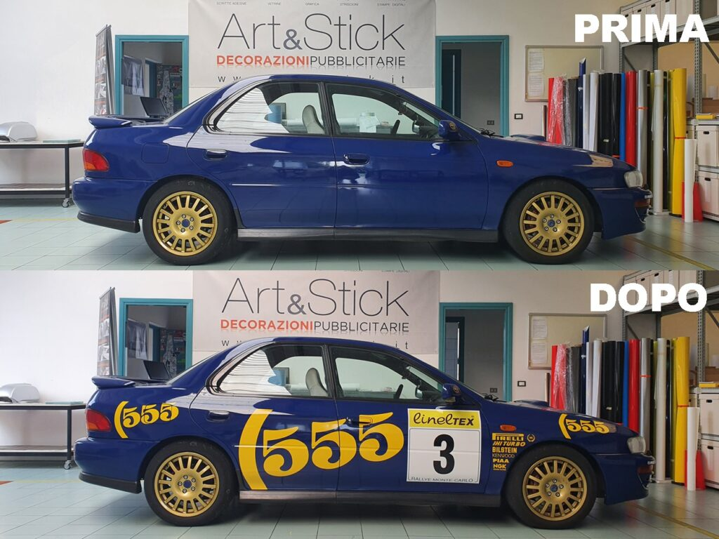 subaru impreza 555 personalizzazione replica rally wrc colin mcrae