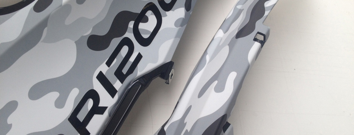 wrapping camouflage arctic BMW GS R1200