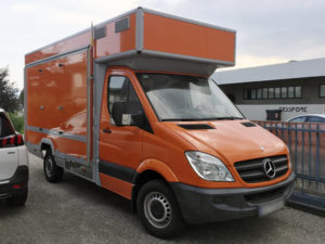 wrapping fugone truck food arancio artestick